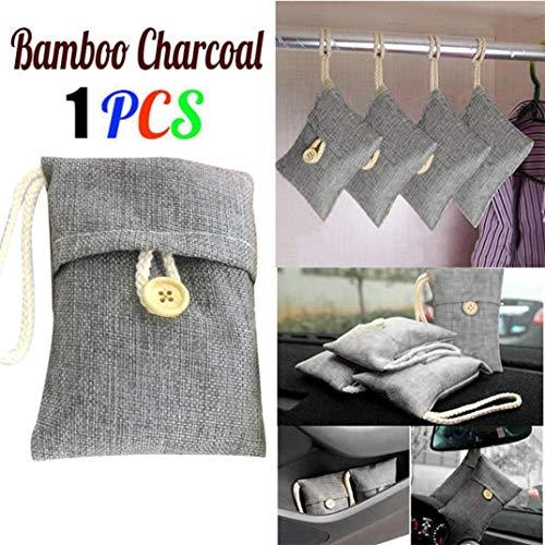 Highpot - Ambientador de carbón de bambú y eliminador de olores, Bolsa de purificación de Aire Fresco para Coches,...