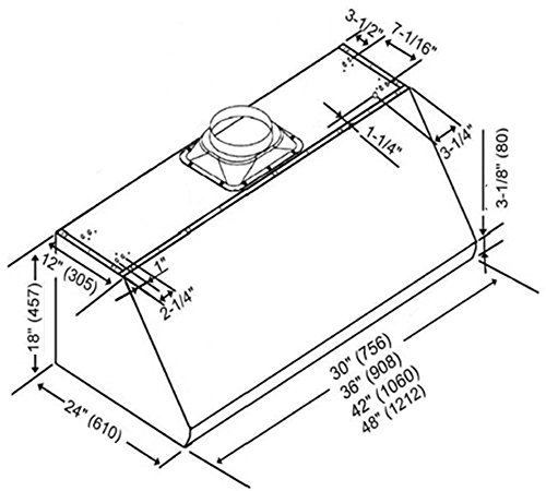 Amazon Com Kobe Ch0048sqb 5 Deluxe 48 Under Cabinet Range Hood 3