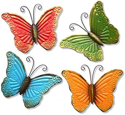 GIFTME Butterfly Colorful Garden Sculptures