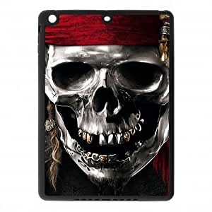 IPad Air Case,Metal Pirate Skull High Definition Personalized Design Cover With Hign Quality Rubber Plastic Protection Case