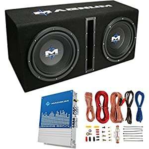 "MTX Magnum MB210SP 10"" 400W RMS Dual Car Loaded Subwoofer Sub Woofer+Box+Amp Kit"