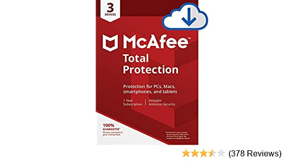 McAfee Total Protection|Antivirus| Internet Security| 3 Device| 1 Year  Subscription| PC/Mac Download|2019 Ready
