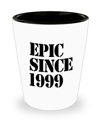 Amazoncom 1999 Gift Idea For 19th Birthday Shot Glass