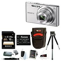 Sony DSCW830 DSCW830 W830 20.1 Digital Camera with 2.7-Inch LCD (Silver) + Me...