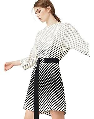 Mango Women's Belt Striped Dress