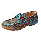 Twisted X Women's Multi Canvas Lace up Driving Mocs Moc Toe Multi 9 M