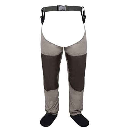 Kylebooker Fly Fishing Waders Waterproof Leg Pants Stocking Foot Hip Wader Breathable Thigh Waders Trousers KB006