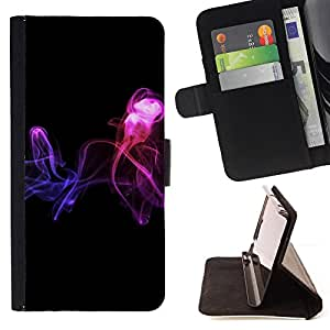 For Samsung Galaxy S5 Mini, SM-G800 - Abstract smoke /Funda de piel cubierta de la carpeta Foilo con cierre magn???¡¯????tico/ - Super Marley Shop -