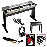 : Yamaha YPG-535 88-Key Digital Piano w/ Knox Padded Bench & Piano Cover, Full Size Studio Headphones, On Stage KSP100 Pedal & Alfred's Teach Yourself to Play Piano - Book & DVD