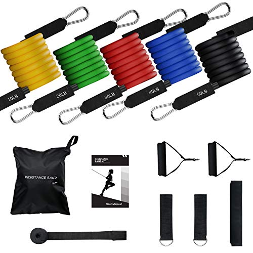 Mpow 150 LBS Resistance Bands with Handles, Anti Snap Exerci