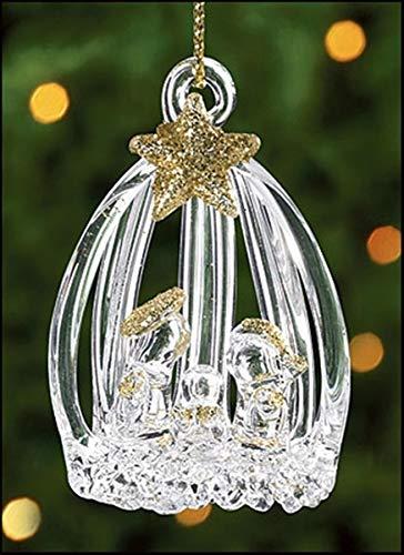 Spun Glass Holy Family Nativity Christmas Ornament, 2 1/2 Inch, Pack of 12 (Spun Glass Ornament Tree)