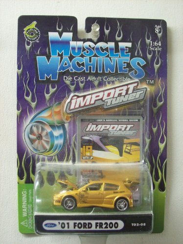 - Muscle Machines 1:64 Scale Import Tuner '01 Ford FR200 Gold #T02-08