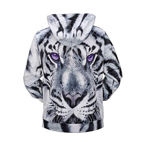 Novità Tiger Pullover Cappuccio Coulisse Unisex fby M 3d Stampa Con Per Felpa A1117 Pattern Tcly qS48wFx
