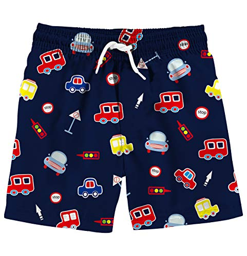 Uideazone Boys' 3D Graphic Swim Trunks Quick Dry Waterproof Beach Board Shorts Swimsuit for Casual ()