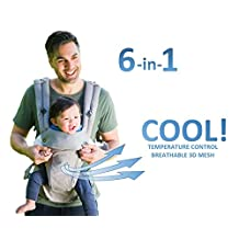 All Seasons 360 Ergonomic Baby Carrier - 6 Position, No Infant Insert Needed, Adapt to Every Baby, from Newborn to Toddler - UNIVERSAL