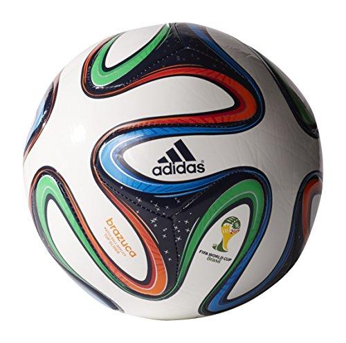 adidas Performance Brazuca Top Glider Soccer Ball, White/Night Blue/Multicolor, 4