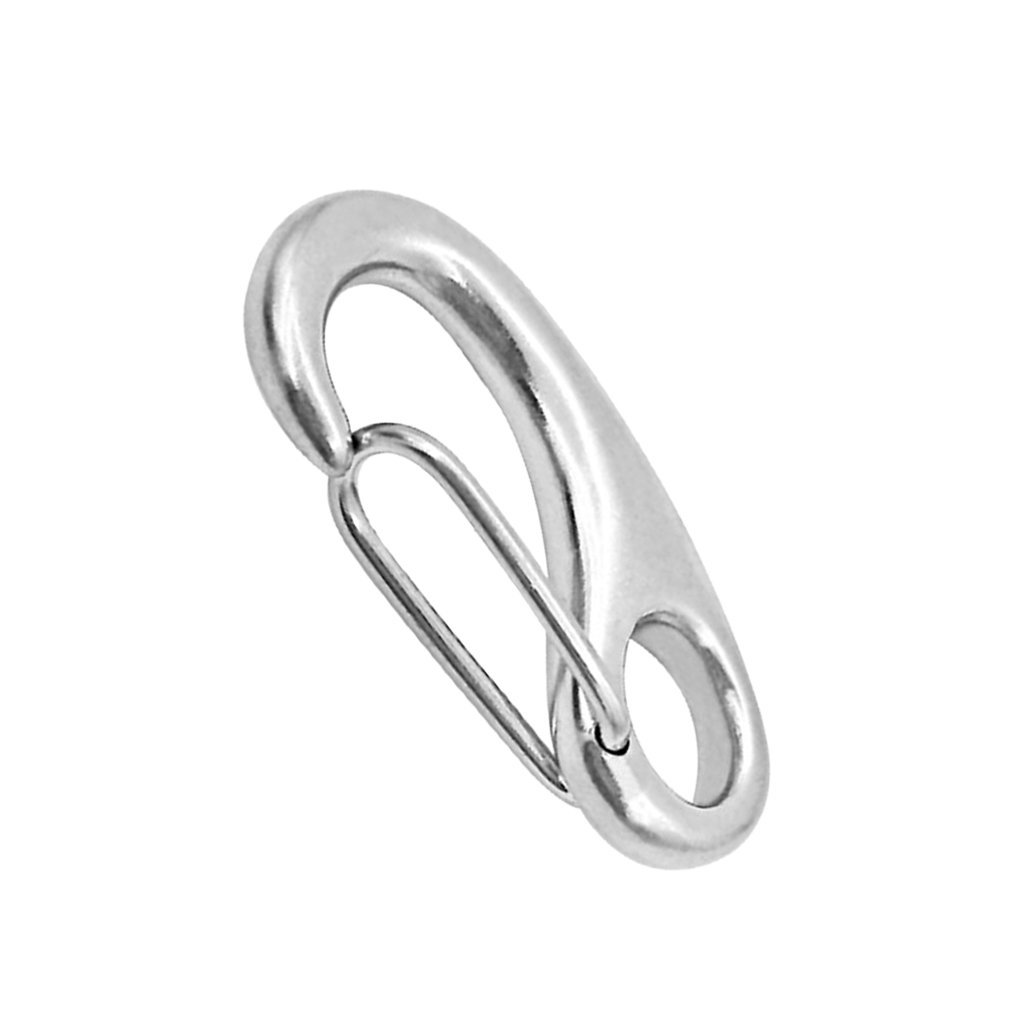 10 x Marine Boat 316 Stainless Steel Spring Snap Hook 2 inch Heavy Duty Quick Link Carabiner Buckle Eye Shackle