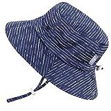 Kyпить Stay-On Boys Sun Protection Hats 50+ UPF, Drawstring Adjustable, Breathable (L: 15m - 5Y, Bucket Hat: Navy Waves) на Amazon.com