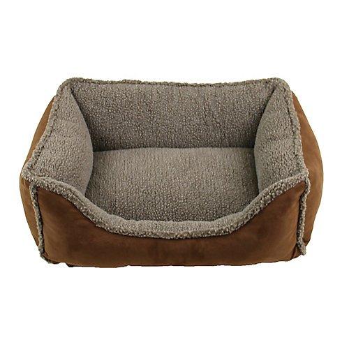 Carolina Pet Faux Suede/Berber Choco Comfy Cup Dog Bed XLarge