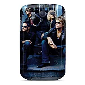 Protector Hard Cell-phone Case For Samsung Galaxy S3 With Custom Beautiful Bon Jovi Pattern ColtonMorrill