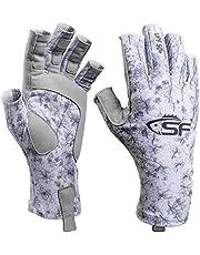 SF Uv-bescherming, vliegenvishandschoenen, UPF50+, zonwerend, vingerloze handschoenen, heren voor kajakken, wandelen, roeien, peddelen, rijden