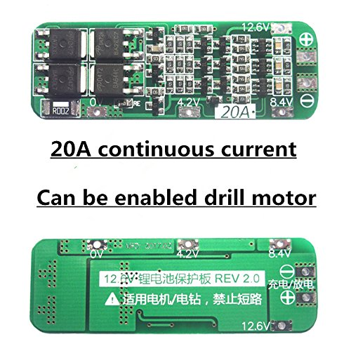 BELONG New 3S 20A Li-ion Lithium Battery 18650 Charger PCB BMS Protection Board For Drill Motor 12.6V Lipo Cell (20a Charger Module)