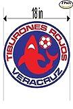 CanvasByLam Tiburones Rojos de Veracruz Mexico Soccer Football Club FC 2 Stickers Car Bumper Window Sticker Decal Huge 18 inches