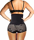 Junlan Women's Shapewear Hi-Waist Brief Firm Control (XL, Black)