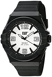CAT White Dial Color Silicon Strap Watch - LE11121231