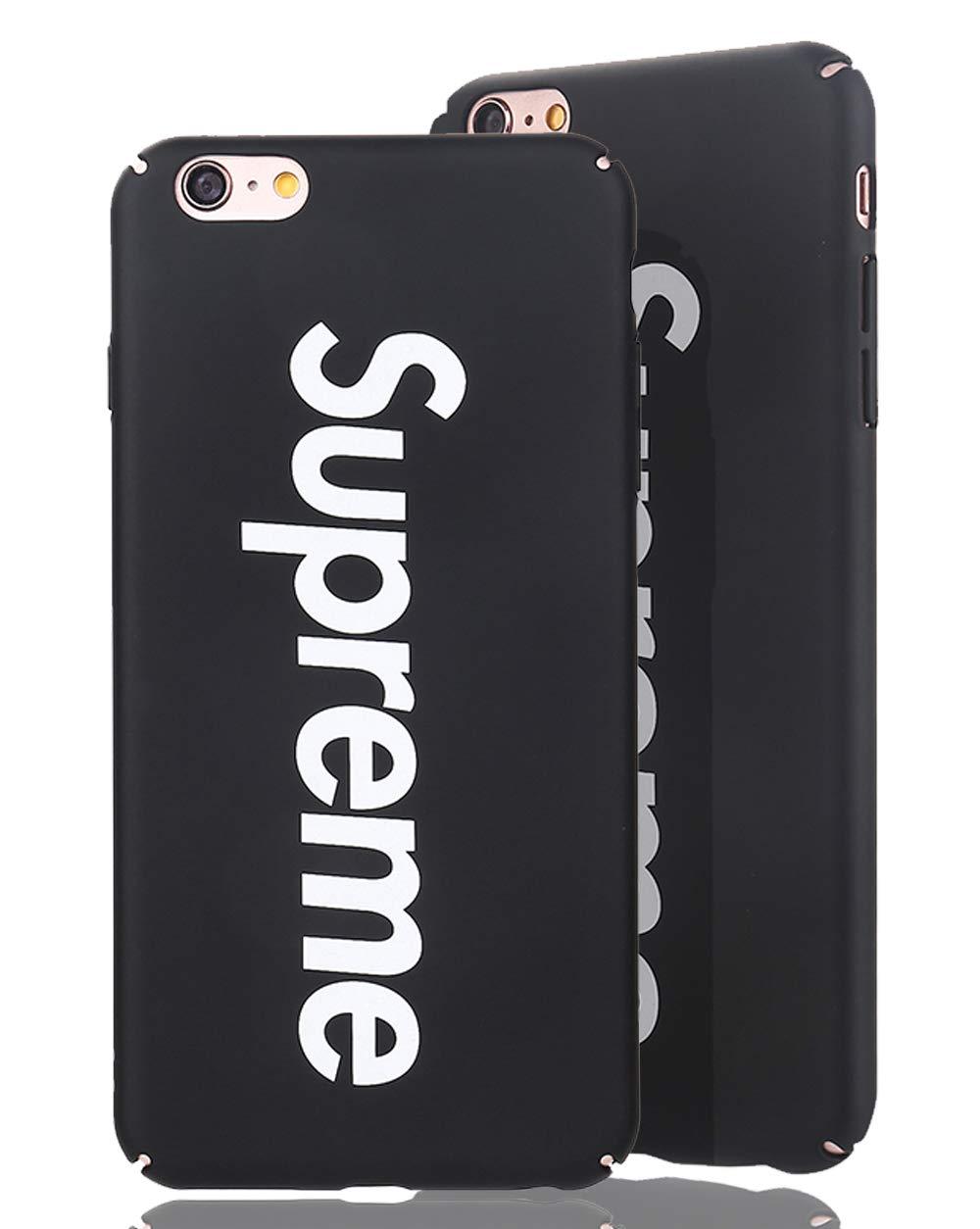 Delgado y Ultra Delgado Ajuste 70s up Apple iPhone 6, Negro Ligero Estuche Protector Hard Shell de Supreme en Mate Fino