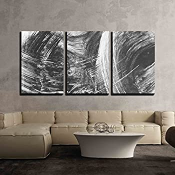 Amazon.com: wall26 - 3 Piece Canvas Wall Art - Black and White ...