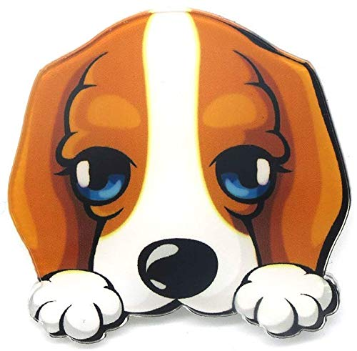 Cute Dog Acrylic Pin Brooch Fashion Pinbroche animal Bulldog Chihuahua dachshund Pugs dog Cartoon collar brooch lapel pin Shipped from USA from Pins and Broches