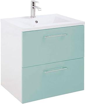 Randalco 24 Happy Modern Bathroom Vanity Cabinet Set Green 24 X 24 X 18 Inch Vanity Ceramic Top Sink Mirror 2 Drawers Amazon Com