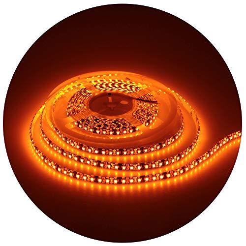 600 Lamp - ALITOVE 16.4ft Orange LED Flexible Strip Light lamp 5M 600 LEDs 3528 SMD Waterproof IP65 12V DC Black PCB for Home Hotels Clubs Shopping malls Cars Decoration