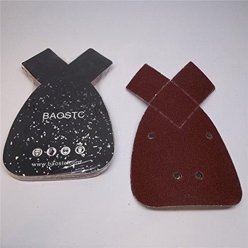 BAOSTC 1//4 sandpaper sheet,4-1//2*5-1//2 P120,red aluminum oxide 50PACK