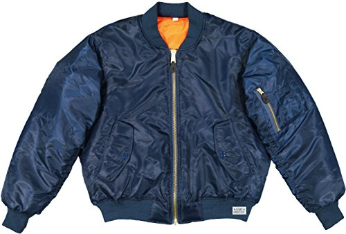 Army Universe MA-1 Air Force Military Bomber Flight Jacket Pin (Navy Blue, Size Medium - Chest 37