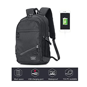 9f4e270841bd KEYNEW Smart Business Laptop Backpack with Card Organizer on Shoulder  Strap,Luggage Strap,USB Charging Port fits 15.6 inch Computer/Notebook for  Men ...