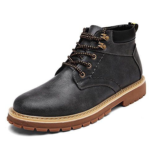 Men's Shoes Feifei Winter Leisure Retro High Help Martin Boots 3 Colors (Color : Black, Size : EU39/UK6/CN39)