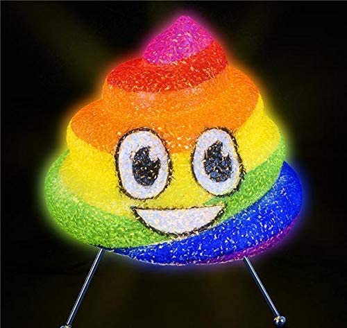 "Dollaritemdirect 8.5 "" Sparkle Rainbow Poopランプ、6のケース"