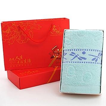 ZHFC Toalla Box sola carga volver matrimonio de la boda regalo bolsa regalo tamaño Creativo regalo bolso toalla bar 1,Un blanco Dragonfly [Azul]: Amazon.es: ...