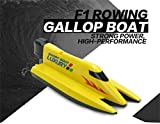 Vovotrade Remote Control Boat RC 2.4G Racing Waterproof Remote Outdoor Toys (Yellow)
