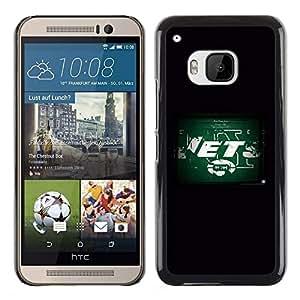 CHORROS - Metal de aluminio y de plástico duro Caja del teléfono - Negro - HTC One M9