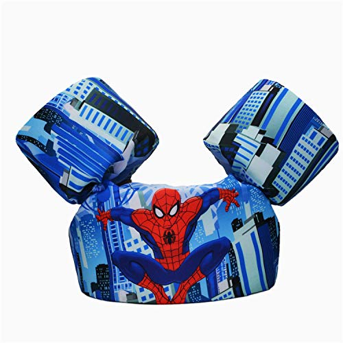 CONHENCI Swim Aid Puddle Jumper Life Jacket Floaties for Toddlers 30-55lbs(Spiderman) ()