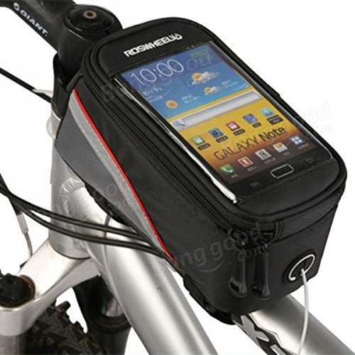 Roswheel bicycle bike frame front tube bag for 4.2 inch cell phone ( Blue ) by Freelance Shop SportingGoods (Image #3)