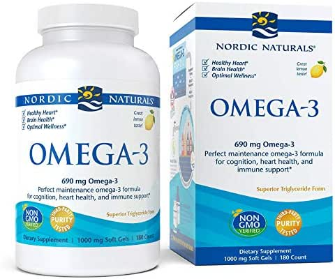 Nordic Naturals - Omega-3, Cognition, Heart Health, and Immune Support, 180 Soft Gels (FFP)