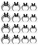 8 Pairs Steel Talons 0g-14g Pinchers Horseshoes Tapers Crescents