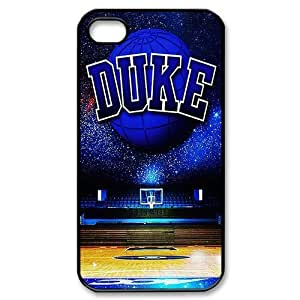 PDIYcover Custom DIY Design 12 Sports NCAA Duke Basketball Black Print Hard Shell Cover for Apple iPhone 4/4S by runtopwell