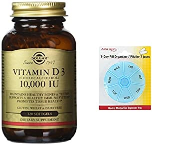 10.000 UI de vitamina D3 (colecalciferol) cápsulas 120 cuenta con gratis 7 días plástico