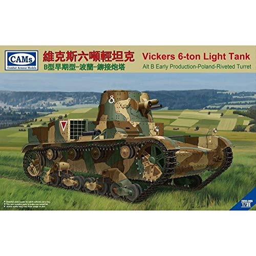 - Combat Armour Models CAMs 1:35 Vickers 6-Ton Light Tank Alt B Early Production - Poland Riverted Turret CV35-005