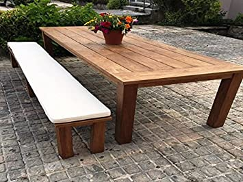 Luxury Indoor Or Outdoor Dining Bench Cushion (Pack Of Two) (Natural, 200cm